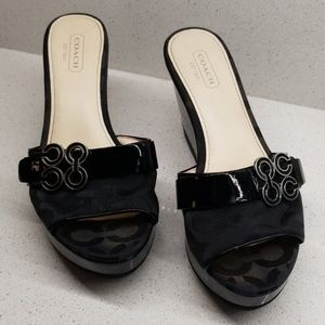 COACH GERI wedge sandals (size 6.5B)